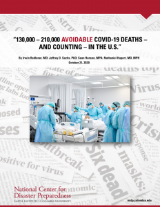 """130,000 – 210,000 Avoidable COVID-19 Deaths - and Counting in the U.S."""