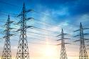 Energy Grid at Sunrise
