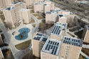 PV solar panels installed at Dearborn Homes in Chicago's Bronzeville neighborhood provide energy to the Bronzeville Community Microgrid.